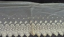 Antique Silk Embroidered Wide Net Lace Trim Vv376