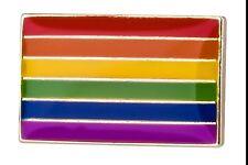 Classic Rainbow Flag Metal Pin Badge LGBT Lesbian Gay Diversity Pride Equality