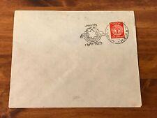 1949 Israel Railways Cover Doar Ivri Stamp First Day of Israel Railways