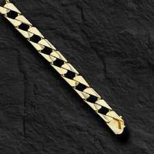 "10kt Solid Yellow Gold Handmade Curb Link mens bracelet 8"" 23 Grams 8.5MM"