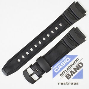 CASIO black rubber watch band for W-S200H, W-S210H, 10360831