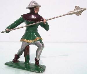 FRANCE HOLLOW CAST LEAD 60MM J.S.F. KNIGHT WITH HALBERD 99%+