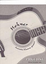 #MISC-0403 - 2000 HOHNER GUITARS musical instrument catalog price list