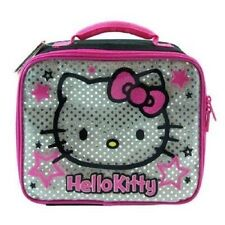 Sanrio Hello Kitty Black Silver Lunch bag - KID BRAND NEW - Licensed product