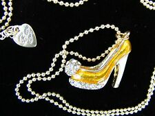 "--Designer ""BETSEY JOHNSON"" High Heel Shoe- Crystal NECKLACE, SEE PICS"