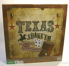 Texas Shake Em Poker Board Game Dice Chips Shaker Wager Fun Discovery Bay Family