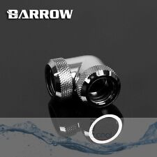 "Barrow G1/4"" Silver 90 Degree Dual Compression Fitting For 14 mm Rigid tube -026"