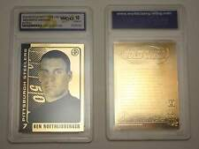 2004 Ben Roethlisberger Pittsburgh Steelers ROOKIE Gold Card Graded GEM MINT 10