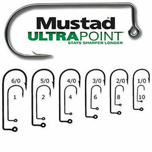 MUSTAD 32833NP-BN ULTRA POINT2X STRONG 90 DEGREE JIG-BEST SELLING HOOK ON PLANET