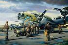 """NINE-O-NINE"" B-17 91st Bomb Group - Stan Stokes Aviation Art 11"" x 16.5"""