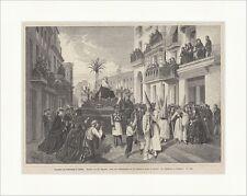 El procesión charfreitag en sevilla viernes santo St. bejarano madera clave e 17823