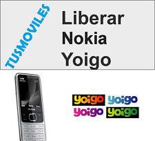 LIBERAR NOKIA YOIGO E70 E62 E61 E60 E65 3250 6708 6280 6270 N91 N90 N70 N93 N85