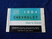 1964 CHEVROLET USERS GUIDE OWNERS MANUAL GENERAL MOTORS CANADA AUTO CARS VINTAGE