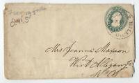 1850s 6ct green Nesbitt U14 Mok Hill CA to NY [4791]