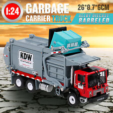 Diecast Barreled Garbage Carrier Truck 1:24 Transporter Vehicle Mod Collector US