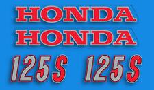 1976 Honda CB125S - Fuel Gas Tank Stripe Decals Decal Set - Aquarius BLUE