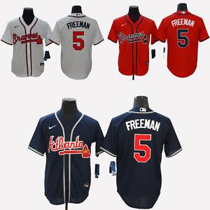 Freddie Freeman  #5 Atlanta Braves Cool Base Men's Stitched Jersey