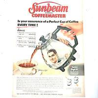 Vintage Print Ad Sunbeam Automatic Coffeemaster 2 sided Berkshire Stockings