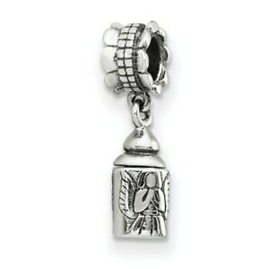 Angel Ash Dangle Bead .925 Sterling Silver Antique Finish Reflection Beads