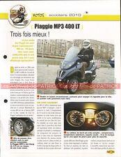 PIAGGIO MP3 400 LT 2010 Scooter Joe Bar Team Fiche Moto #006151