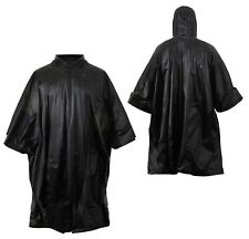 Military Style Rain Poncho Tent Shelter Black Rothco 4958
