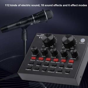 V8 Audio USB Headset Microphone Webcast Live Mixing Sound Multiple Card for PC