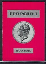 [G137913] Historische & Filatelistische studie Leopold I 1790/1865 SUPERBE
