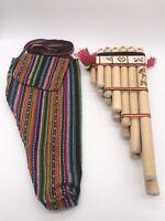 Amazing Handmade Peruvian Zampona Chill Pan Flute 13 Pipes Native + Case Gift