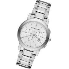 NEW Burberry BU9750 Silver Steel Bracelet Anti-Reflective Sapphire Unisex Watch