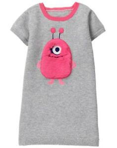 NWT GYMBOREE Cosmic Club Monster Sweater Dress 5T Girl