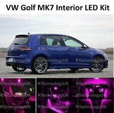 Prima Púrpura Rosa VW Golf MK7 MkVII GTI 12-19 LED Luz Kit Set Completo Interior