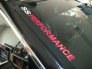 SS PERFORMANCE  (style 2)  Windshield Decal Chevrolet Camaro SS