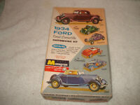 Vintage Monogram 34 Ford Coupe Convertible model kit box only 1/24 scale