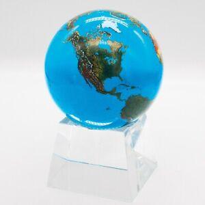 Shasta Visions 3-Inch Aqua Crystal Earth Sphere / Globe