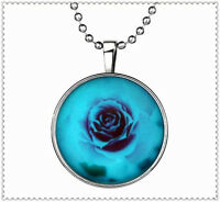 Fashion Punk Style Rose Glow in the Dark Stainless Steel Necklace Pendant