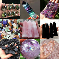 100% Natural Obsidian Amethyst Point Pink Rose Quartz Healing Crystal Specimen