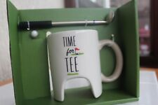 NOVELTY GOLF MUG SET MINI GOLF FUN OFFICE DESK GOLF SET GIFT IDEA -WHITE