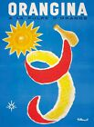 FRAMED CANVAS Art print bernard villemot orangina vintage poster reproduction