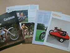 CZ 350 250 JAWA JAWA-CZ + SIDECAR OUTFIT magazine article from the 1970s