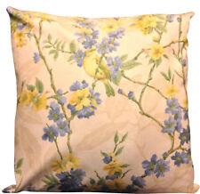 Sanderson Birdsong Blue & Yellow Cushion Cover 16''