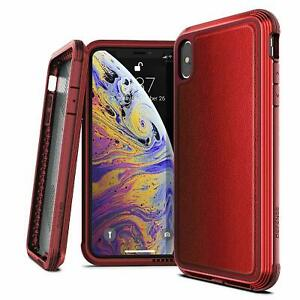 Case For iPhone XS MAX Defense LUX X-doria Heavy Duty Drop Proof Case Red XS MAX