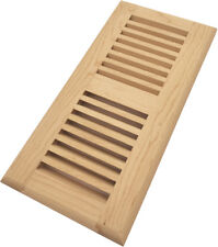 "Homewell 4"" x 10"" Maple Wood Floor Register Vent, Drop In Vent, Unfinished"