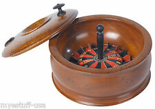Authentic Models GR025 Roulette Game Replica of Wood Travel Roulette Game