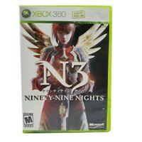 Microsoft Xbox 360 N3 Ninety-Nine Nights Video Game (Complete, 2006)