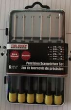 PRECISION SCREWDRIVER SET 6 Piece  KIT 3 Slotted + 3 Phillips, New