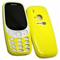 BAQ Replacement Front & Rear Shell Housing Yellow With Buttons For Nokia 3310 UK