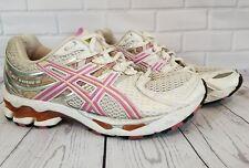 ASICS Gel Kayano 16 Wlomens White & Pink Running Sraining shoes Sz 8.5 (T050N)
