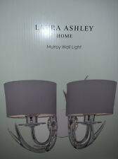 LAURA ASHLEY MULROY CHROME TWIN WALL LIGHT RRP £95 Stag / Antlers