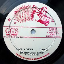 """BARRINGTON LEVY strong VG condition 12"""" ONCE A YEAR b/w G.G. ALL STARS dub"""