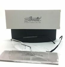 Silhouette Grey Black Frame Rimless Unisex Eyeglasses 5409 60 6063 53 WM6347